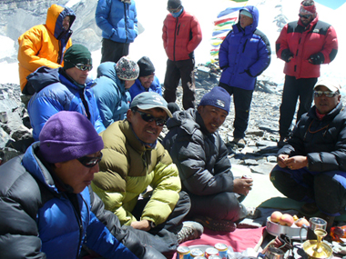 Lhakpa Gelu at base camp