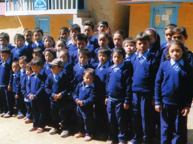 Buksa kids with their new uniforms
